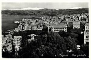 lebanon, BEIRUT BEYROUTH, General View (1950s) RPPC