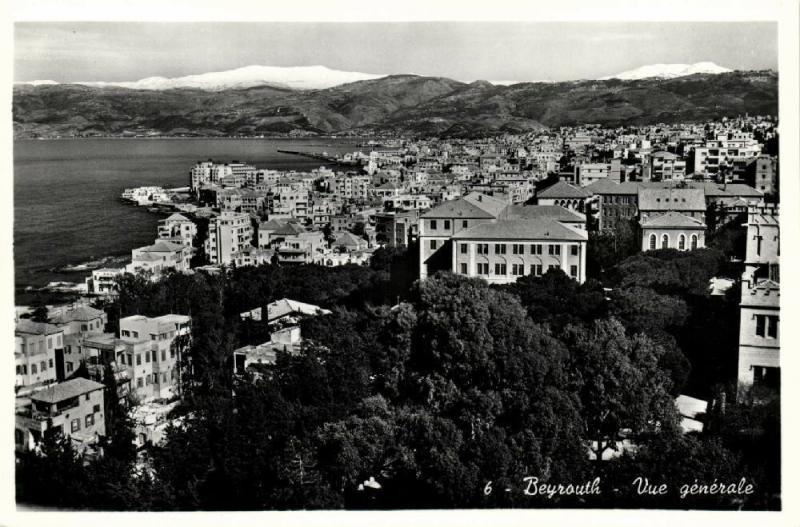 lebanon, BEIRUT BEYROUTH, General View (1950s) RPPC