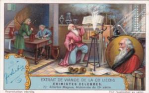 Liebig S1223 Famous Chemists No 2 Albertus Magnus