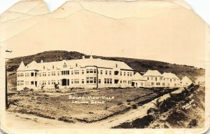 Laguna Beach California 1933 RPPC Real Photo Postcard Broad View Villa