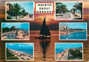 Italy Postcard Roseto degli Abruzzi different aspects