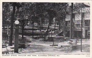 Missouri Eldorado Springs Wonder Spring Pavilion and Park 1943