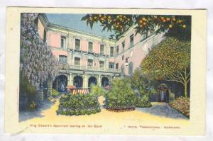 King Edward's Apartment looking on the Court, Hotel Tramontano, Sorrento, Cam...