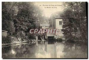 Postcard Old water mill vicinity of Chalons Camp The mill Livry