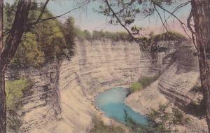 Canyon Below Glen Iris Inn Letchworth State Park New York Handcolored Albertype