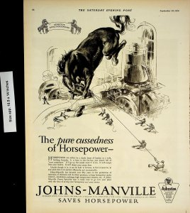1926 Johns-Manville Asbestos Insulation Break Lining Home Vintage Print Ad 4467