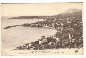 Vue sur Garavan, le Cap Martin et la Tete de Chien, Menton, France, 00-10s