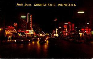 Minnesota Minneapolis Hennepin Avenue At Night