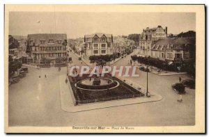 Old Postcard Sea Deauville Place Morny Peugeot Advertisement
