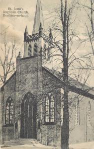 BERTHIERVILLE, Berthier-en-Haut, Quebec   ST. JAMES ANGLICAN CHURCH   Postcard