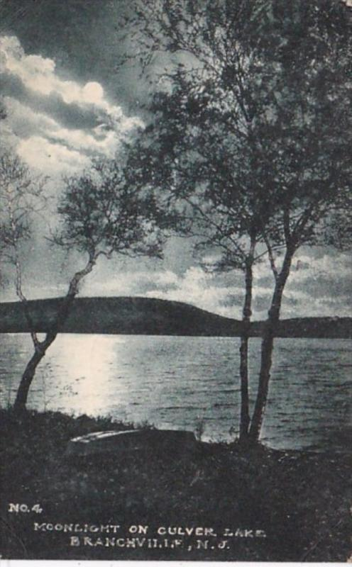 New Jersey Branchville Moonlight On Culver Lake 1946 Albertype