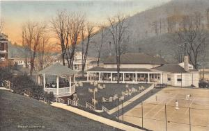 F4/ Hot Springs Virginia Postcard c1910 Golf Club Tea Garden Tennis Court