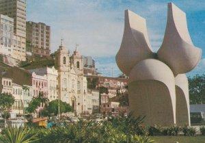 Salvador Mario Cravo Sculpture State Fountain Brazil Postcard