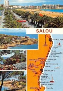 Spain Costa Dorada Tarragona Salou Map Plage Promenade Beach Auto Cars