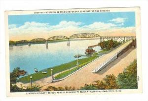 Lincoln Highway Bridge, Mississippi Riverm Clinton, Iowa, 10-20s