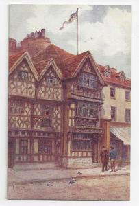 UK Stratford on Avon Harvard House Garrick Inn W.W. Quatremain J Salmon Postcard