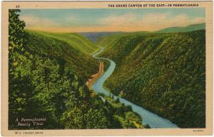 1937 Wellsboro PA Grand Canyon The East Pennsylvania Gorge Pine Creek Postcard
