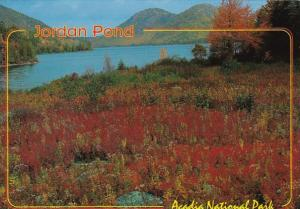 Maine Acadia National Park Jordan Pond In Autumn