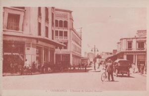 Casablanca Crossroads of General Moinier Avenue Morocco Postcard