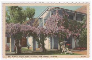 Wisteria Pergola The Oasis Hotel Palm Springs California linen postcard