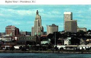 Rhode Island Providence Skyline View
