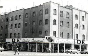 Vintage RPPC Real Photo Postcard Centro Commercial D.F. Ribiera San Cosme Mexico