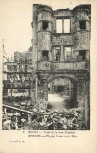 CPA Militaire (Dep.51) Reims - Porte de la cour Chapitre (91717)
