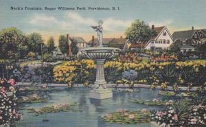 Rhode Island Providence Nock's Fountain Roger Williams Park
