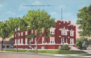 Exterior, Masonic Building, Spencer, Iowa,  30-40s