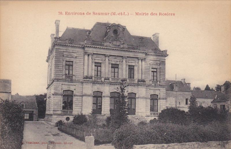 Environs de SAUMUR, Maine Et Loire, France, 1900-1910´s; Mairie des Rosiers