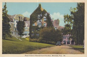 MONTREAL, Quebec, Canada, 1900-1910s; Royal Victoria Hospital From Pine Avenue