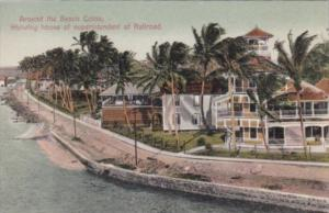 Panama Colon Beach Scene Showing House Of Superintendent Of The Railroad