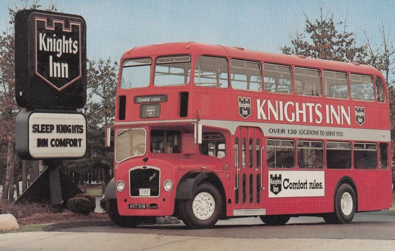 Knights Inn Double Decker Bus , 50-60s