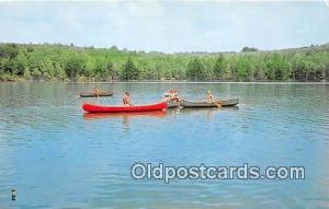 Canoeing Merit Badge Forrest Lakes Council BSA Postcards Post Cards Old Vinta...