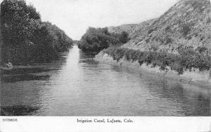 La Junta Colorado~Irrigation Canal c1910 B&W ZIM Postcard