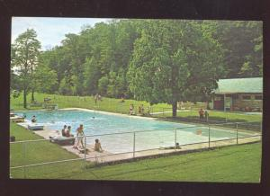 WEBSTER SPRINGS WEST VIRGINIA CAMP CAESAR SWIMMING POOL VINTAGE POSTCARD