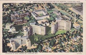 Ohio Cleveland Bird's Eye View Of Cleveland City Hospital 1938