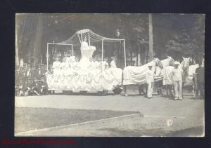 RPPC CORNET CITY HOSE COMPANY PARADE FLOAT REAL PHOTO