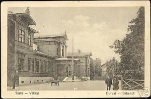 estonia, TARTU DORPAT, Vaksal, Railway Station (1927)