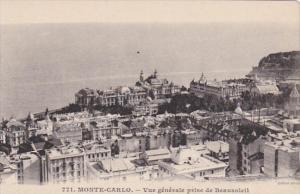 Monaco Monte Carlo Vue generale prise de Beausoleil