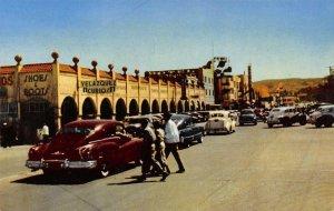 Los Portales Tijuana, Mexico Street Scene Vintage Postcard ca 1950s
