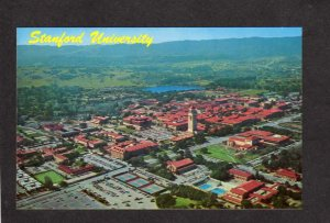 CA Aerial Stanford University College Palo Alto California Postcard Hoover Tower