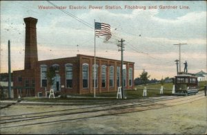 Westminster Electric Power Station Fitchburg Gardner Line Trolley Postcard