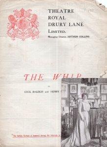 The Whip Fanny Brough Worn Drury Lane Theatre Programme & Postcard