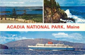 Scenes at Acadia National Park Maine & Ferry-Liner Bluenose