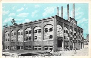 East Palestine Ohio~City Water & Light Plant~4 Smoke Stacks~1920s Blue Sky Pc