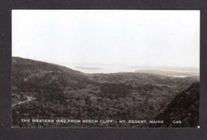 MAINE ME  MT DESERT ISLAND Postcard RPPC Real Photo PC Postcard