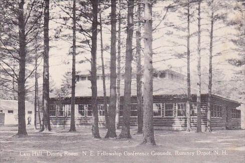 New Hampshire Rumney Depot Cas Hall Dining Room N E Fellows Ship Conference G...