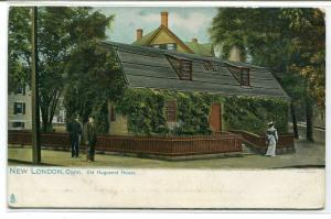 Old Huguenot House New London Connecticut 1907c Tuck postcard