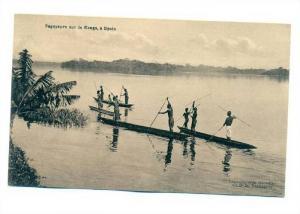 Pagayeurs sur le Congo, a Upoto,Belge Congo, PU-1913